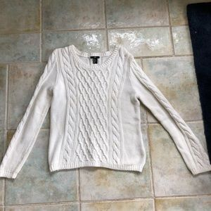 H&M white sweater in good used condition size m
